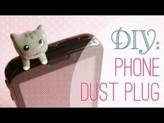 DIY: Phone Dust Plug  I've been needing one and so has my mom! Guess who's going to make some now... US! :)