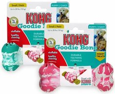 Small Puppy Kong Goodie Bone (Assorted Colors)- $8.99