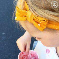 Haarband für Kinder - 3 kostenlose Schnittmuster im Test - Lila wie Liebe