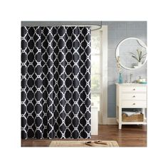 Madison Park Essentials Trellis Shower Curtain, Black