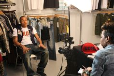 bbe34b237c AKOO Clothing Press day with Rotimi