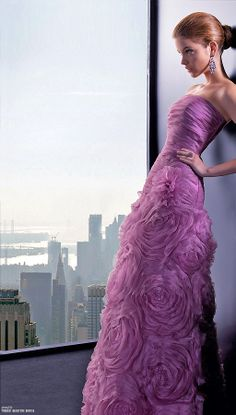 Rosa Clara, 2013. Gorgeous radiant orchid gown.