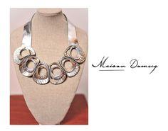 Collar/ Necklace AMARAK PLATEADO #shine #style #fashion #collection #leather #maisondomecq #woman