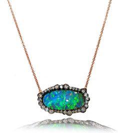 Kimberly McDonald. Opal & diamond pendant.