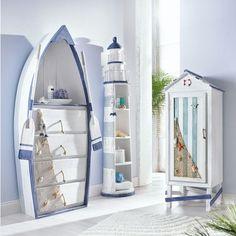 Deco white is a safe bet. Nautical Interior, Nautical Bathroom Decor, Beach Theme Bathroom, Beach Room, Beach Bathrooms, Nautical Home, Coastal Decor, Nautical Furniture, Beach Furniture