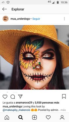 Looking for for inspiration for your Halloween make-up? Browse around this website for cool Halloween makeup looks. : Looking for for inspiration for your Halloween make-up? Browse around this website for cool Halloween makeup looks. Halloween Costumes Scarecrow, Scarecrow Makeup, Cute Halloween Makeup, Halloween Makeup Looks, Haunted Halloween, Halloween Party, Women Halloween, Scream Halloween, Halloween Ideas