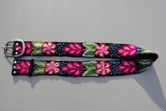 Embroidered Peruvian Tradional Floral Pattern Belt by ColorfulU, $45.00
