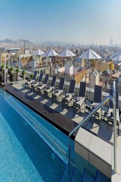 Located 656 feet from Barcelona's Magic Fountain, the elegant Crowne Plaza Barcelona - Fira Center offers spacious rooms with a flat-screen TV and. Magic Fountain, Rooftop Terrace, Brick Building, Sound Proofing, Hotel S, Types Of Houses, Investment Property, Outdoor Pool, Sun Lounger