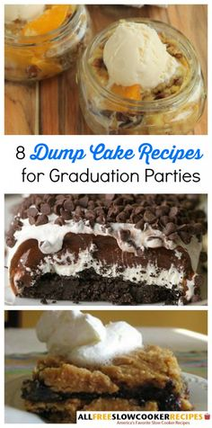 Gotta love these easy dump cake recipes (made with cake mix)! They're perfect for parties, like graduation parties!