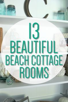 Farmhouse Beach Decor - 13 Beach House Decorating Ideas That Take You To The Beach - Coastal style decor to feel like you are on the beach - Beach Cottage Decor house decor coastal style Beach Cottage Decor For Every Room In Your Home - Mommy Thrives Coastal Farmhouse, Coastal Cottage, Coastal Homes, Farmhouse Decor, Farmhouse Plans, Farmhouse Style, Beach Cottage Style, Beach Cottage Decor, Coastal Style