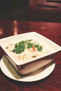 Bangkok Royal - the only Thai food in Waco, Texas. (Tom Kha Kai soup) - 215 S. University Parks Dr.