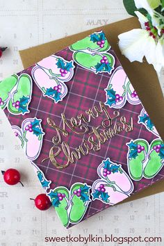 How to build a frame for Christmas card with one accessory stamp? Build A Frame, Card Making Tutorials, Clear Stamps, Winter Holidays, Palms, Colouring, Handmade Cards, Christmas Cards, Deck