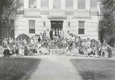 Annetta Robertson Miller, class of '32. Featured here with her class.