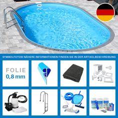 Ovalpool-Set PLUS 4,90 x 3,00 x 1,20 m Folie 0,8 mm Kurzübersicht Lieferumfang: Feuerverzinkte Stahlwand 0,6 mm   Made   in   Germany Blaue PVC-Poolfolie 0,8 mm   Made   in   Germany...