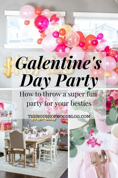 How to throw the perfect Galentine's party for your besties! I am sharing a super fun and festive valentine's party to throw for your gal pals. Valentines Games, Valentine Activities, Valentines Day Decorations, Party Activities, Valentines Day Party, Valentine Gifts, Diy Party, Party Favors, Party Ideas