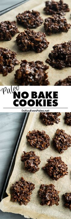 Paleo No Bake Cookies - these classic cookies are made entirely on the stovetop. Chocolatey and simple! | DoYouEvenPaleo.net #paleo #glutenfree