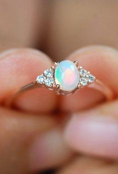 Opal Engagement Rings For The Modern Brides Wedding planning ideas inspiration Wedding dresses decor and lots Classic Engagement Rings, Platinum Engagement Rings, Engagement Ideas, Vintage Engagement Rings Opal, Vintage Opal Rings, Solitaire Engagement, Ring Set, Ring Verlobung, Black Opal Ring