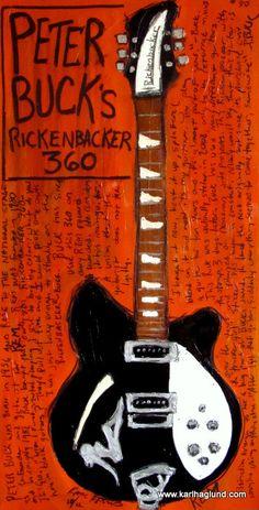 Peter Buck Rickenbacker electric guitar art print