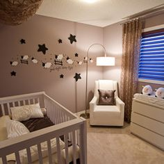 A cute, neutral nursery idea- love the sheep!