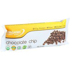 Organic Food Bar - Belgium Chocolate Chip - 68 g Bars - Case of 12
