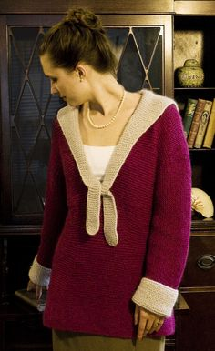 Beautiful sweater!  Free knitting pattern, Shoreside pullover: Knitty Deep Fall 2012