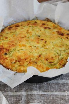 Fritada de abobrinha e milho verde