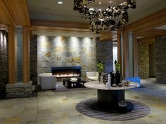 Lobby of the Four Seasons Whistler Private Residences - inspiration for suites