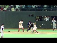 1970 All Star Game.    Pete Rose runs over Ray Fosse for the game winning run.    One of the greatest moments ever in the history of the All Star Game.