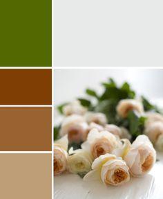Brown, white, green