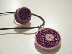 Quilled Ring & Pendant