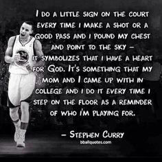 Stephen Curry, a great example of an athlete using his talent for the glory of God