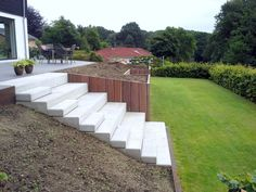 aerdige_haveanlaeg – en_have_i_silkeborg – - All About Sloped Backyard, Sloped Garden, Backyard Patio, Backyard Landscaping, Flower Landscape, Landscape Design, Garden Design, Back Gardens, Small Gardens