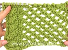 DROPS Knitting Tutorial: How to work lace pattern after chart A.1 and A....