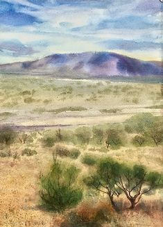 The Simple Path | allisonspreadborough Desert Environment, Watercolor Landscape, Northern California, Watercolors, Paths, Saatchi Art, Landscapes, Abstract, Drawings