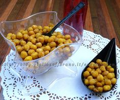 Chickpea snack ricetta ceci tostati al curry da aperitivo by Easy Kitchen with Cup Elika and Mini dessert Mozart #Poloplast