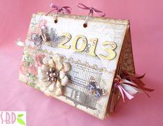 Calendario da tavolo shabby 2013 - 2013 shabby calendar