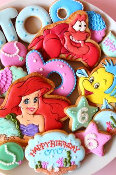 Ariel cookies  Little mermaid cookies