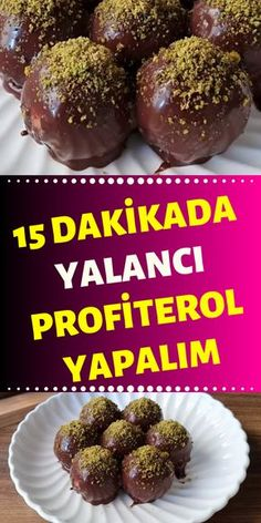 We& with a snap profiterol description that is prepared and very tasty. You& love this recipe. East Dessert Recipes, Snack Recipes, Turkish Recipes, Indian Food Recipes, Profiteroles Recipe, Best Sweets, Tasty, Yummy Food, Food Platters