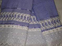 bordado de fita em toalha - Pesquisa Google