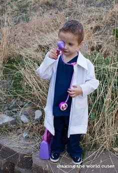 DIY doctor coat for dress up.