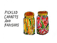 Pickled Carrots and Radishes - by Ben Husmann, via Flickr