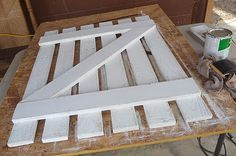 Pallet gate. You could use this for real in your vegi garden or anywhere else for that matter ;)