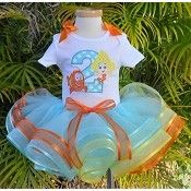 Girls Birthday Bubble Guppies Deema & Mr Grouper Elegance Tutu Set