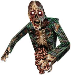 3-d zombie wall decoration Case of 6