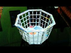 How to make a newspaper basket - YouTube