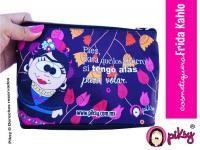 piksy #cosmetiquera #FridaKahlo Práctica y con diseño divertido al estilo #PiksyDesign