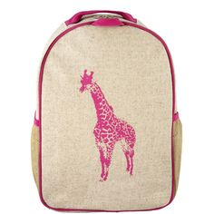 SoYoung Pink Giraffe Toddler Backpack