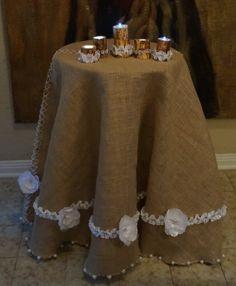 80' Round or Square Tablecloth Natural Rustic by Dreamangelsdecor, $135.00