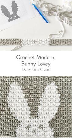 Crochet baby bunny blanket easter 34 Ideas for 2019 Crochet Diy, Crochet Motifs, Manta Crochet, Easter Crochet, Modern Crochet, Crochet Bunny, Afghan Crochet Patterns, Crochet Crafts, Crochet Projects
