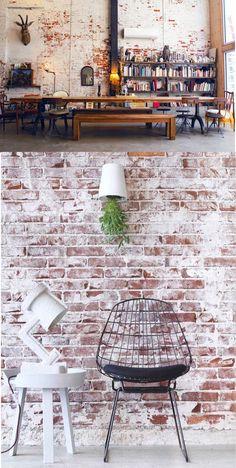 bricks white / ladrillo blanco / wall / pared